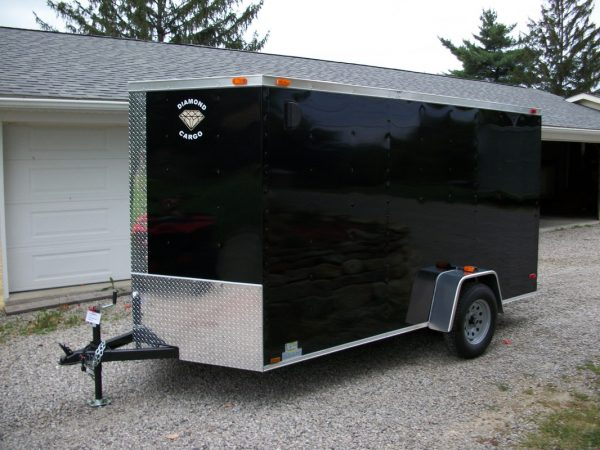 6x10 single axle with V-nose and ramp door