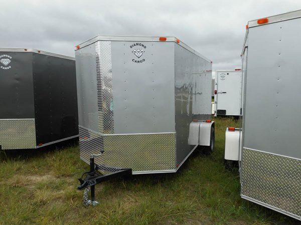 7 X 16 Tandem Axle V Nose Cargo Trailer Guaranteed